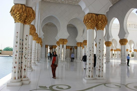 Holiday Inn Abu Dhabi: Inside the mosque