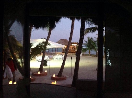 El Dorado Sensimar Riviera Maya: Tent on the beach and pier