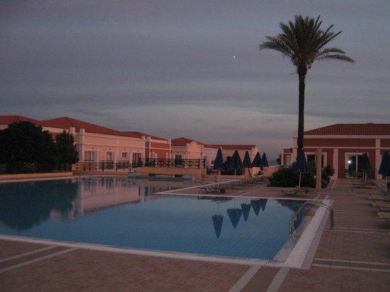Atlantica Porto Bello Royal: The pools at dusk