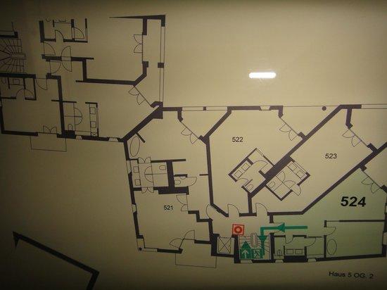 Giardino Mountain: floor plan with junior suite 524