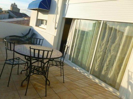 Hotel Camille : Balkon