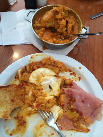 Orozco's Restaurant : Try the best ever mofongo (any style) with eggs and ham and their A1 homemade hot sauce- breakfa