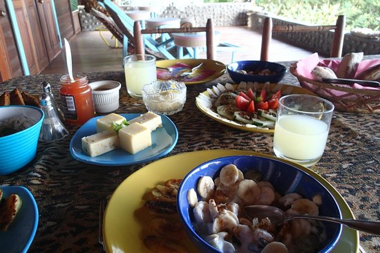 Villawellness St. Lucia : Breakfast--loved the fresh juice in particular