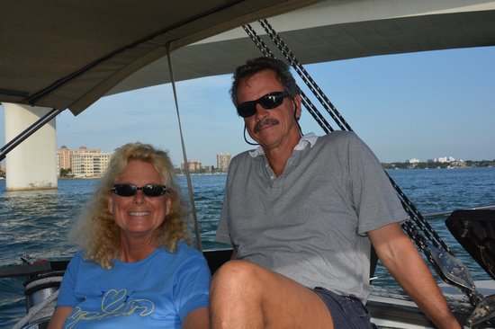 "Key Sailing : First Mate Jan and Captain Tim on the ""Key Breeze"""