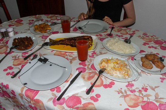 Chalets d'Anse Reunion : Excellent complimentary dinner