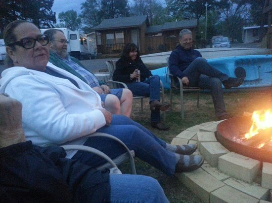 Lone Star, TX: Friends at Scenic View, around the campfire.