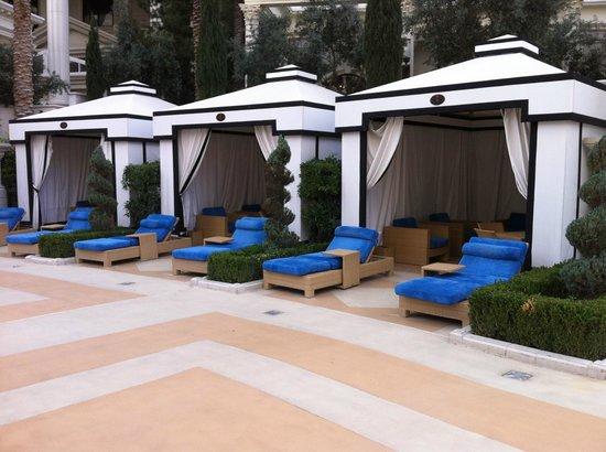 Caesars Palace: Tente et espace privé