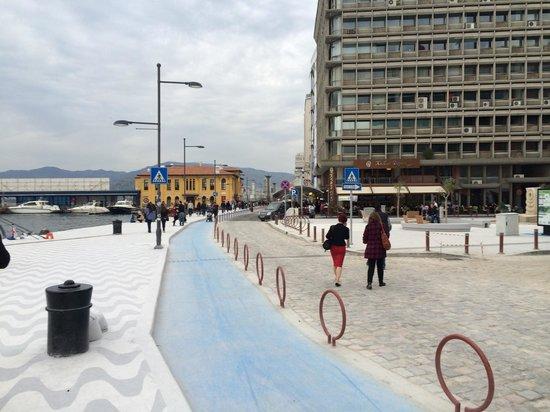 Kordonboyu: Cycling path in blue !