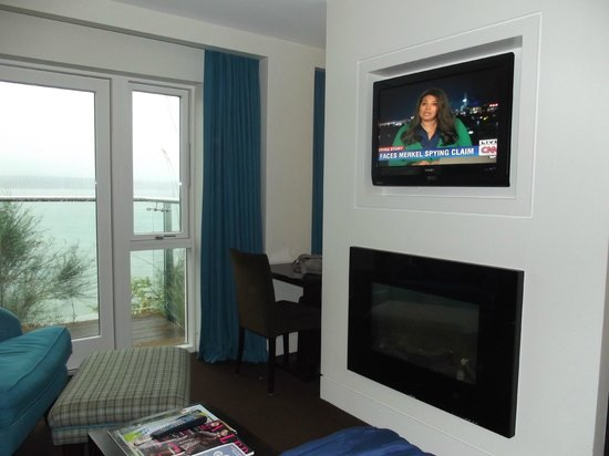 Cliff House Hotel: Another tv & electric fire on the other side!!