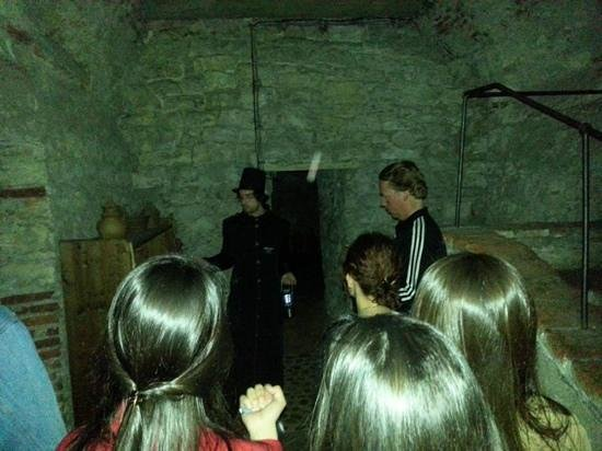 McGee's Ghost Tours of Prague: an orb in the underground :)