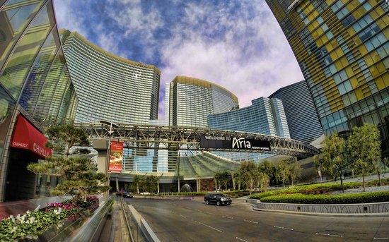 ARIA Resort & Casino: City side entrance to Aria