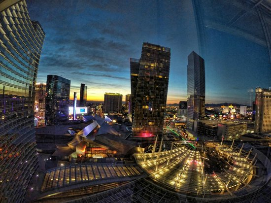 ARIA Resort & Casino: Room view from 18th floor