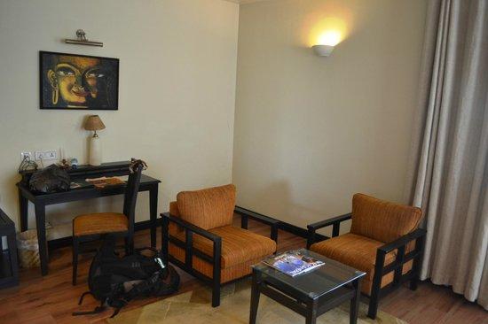 Gokarna Forest Resort: living area in the room