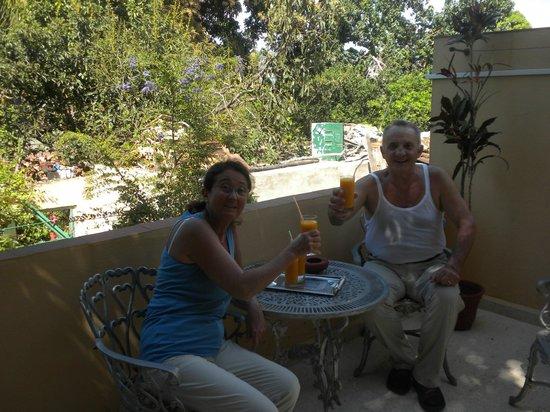 Casa Mario y Damaris : Succo di mango in terrazza