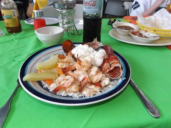 Maro's Shrimp House: Grilled shrimo & lobster combo $16.99