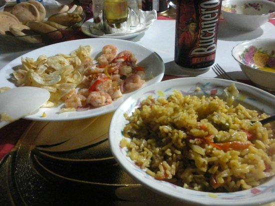 Casa Mario y Damaris : Alcune portate di una buona cena