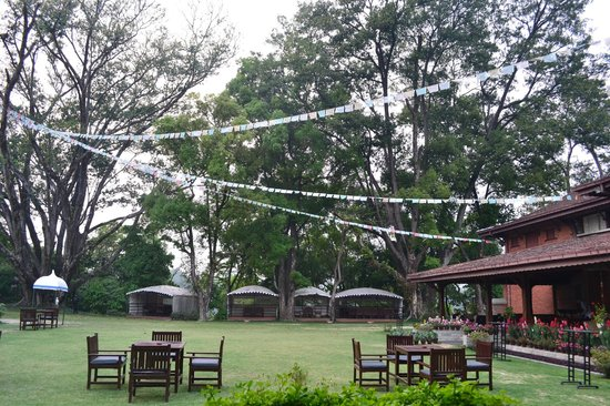 Gokarna Forest Resort: from our dining table