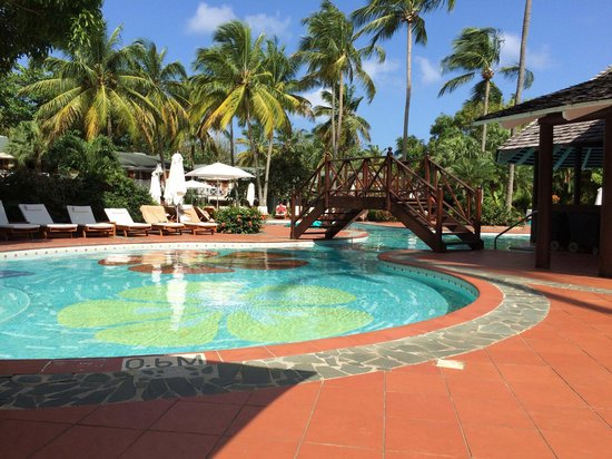 Sandals Halcyon Beach Resort: Paradise Pool at 9 a.m.