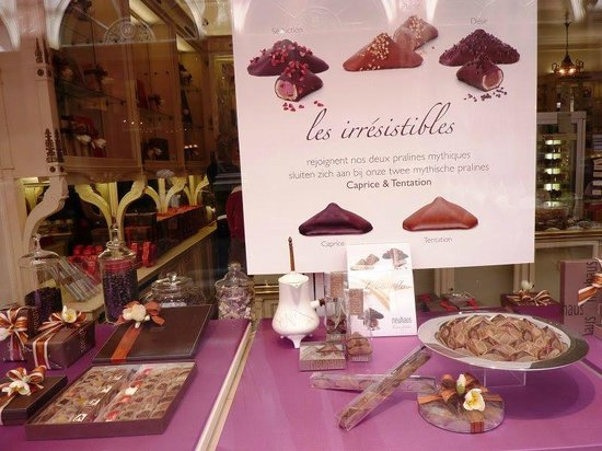 Les Galeries Royales Saint-Hubert : Chocolates belgas