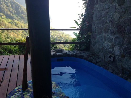 Ladera Resort: Plunge pool in room