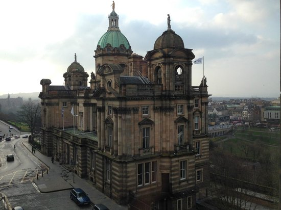 Fraser Suites Edinburgh: The view from our room