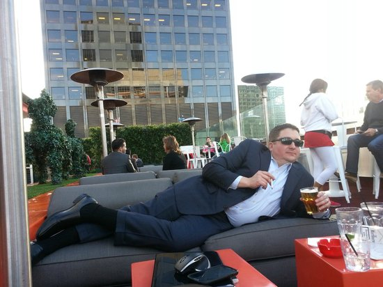 The Standard Downtown : Relaxing at The Standard LA