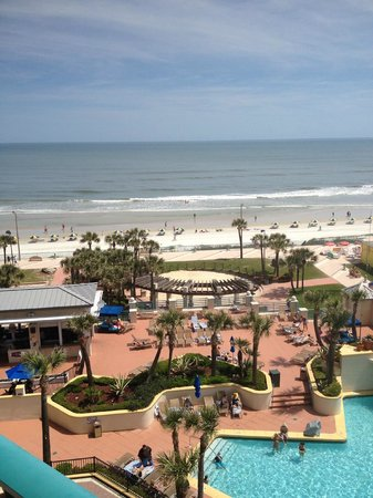 Hilton Daytona Beach / Ocean Walk Village : Day view frompool view
