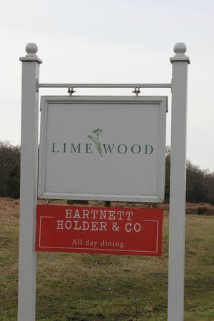 Lime Wood Hotel: Limewood Hotel sign from main road