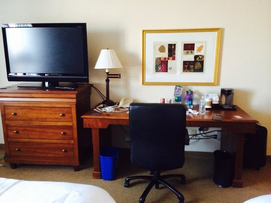 Sheraton Minneapolis West Hotel: TV and desk