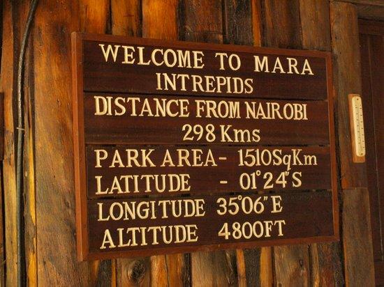 Mara Intrepids Club: At the entrance...