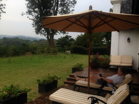 The Manor at Ngorongoro: Our private patio