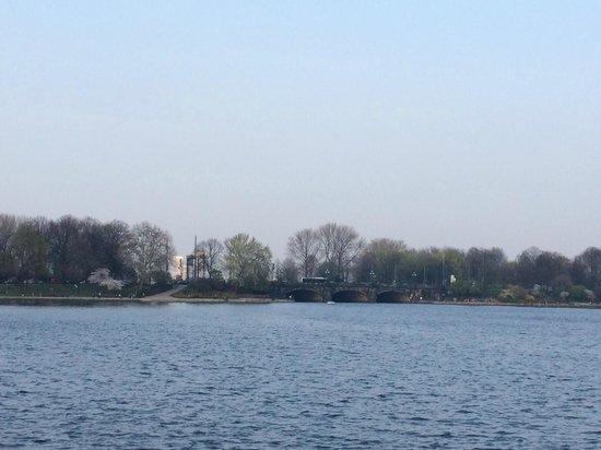 Alster Lakes: Vista donde pasa el tren