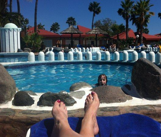 Caybeach Princess: the warmest pool