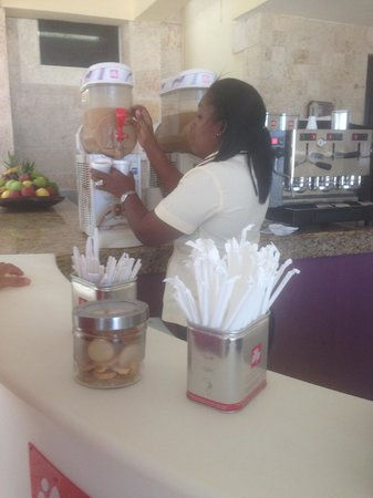 Paradisus Palma Real Golf & Spa Resort: my favorite afternoon and evening mini coffee bar.  It says