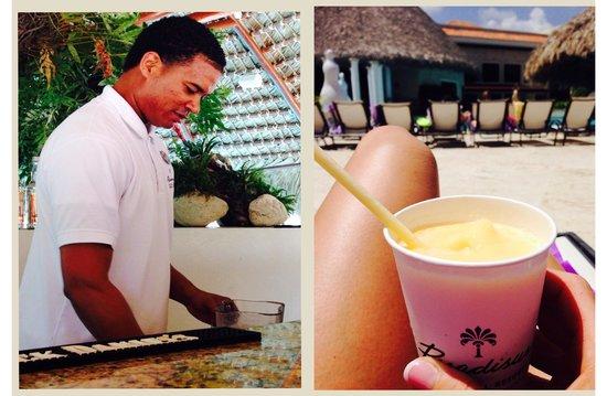 Paradisus Palma Real Golf & Spa Resort: pool bar - Gustavo is awesome!!