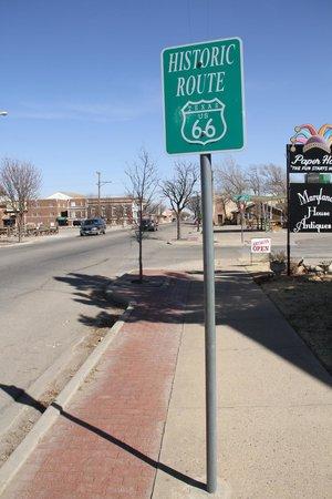 Route 66 Historic District: Placa da Rota 66