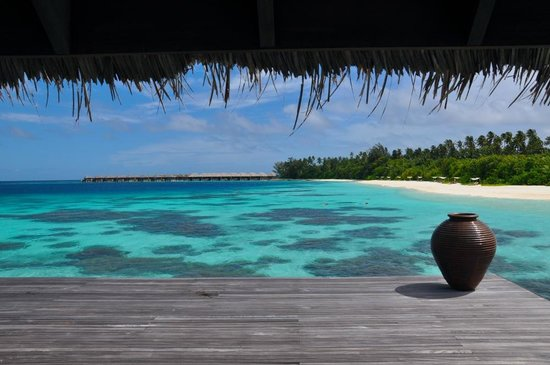 Coco Bodu Hithi : view from the spa