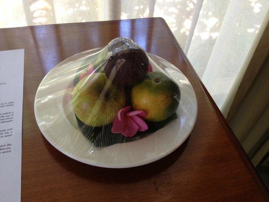 Villa Grasia Resort & Spa: Welcome fruit