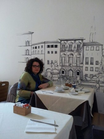 Hotel Ferrucci: ...sala colazione..