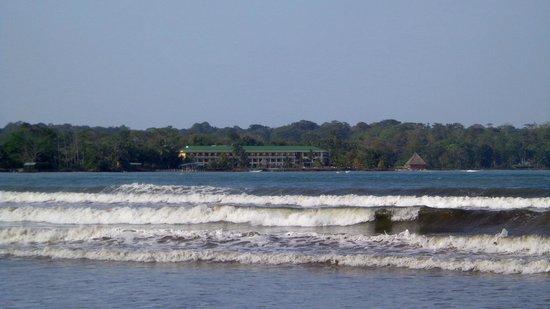 Playa Tortuga Hotel & Beach Resort : Vista del hotel desde la entrada del pueblo