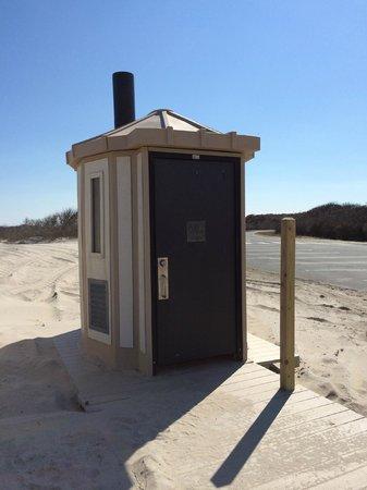 Assateague Island National Seashore: Bathroom (exterior)