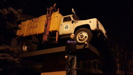 Trash Truck Monument