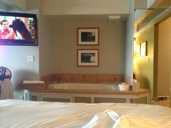 Cypress Inn on Miramar Beach : View from the bed @ Jacuzzi Tub