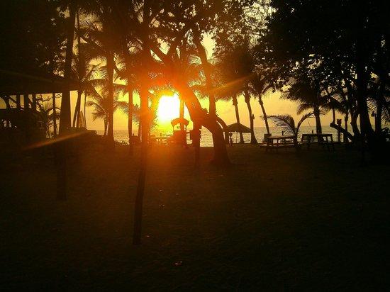 Bananarama Beach and Dive Resort: Sunset from my stairs