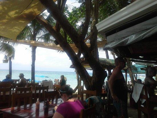 Bananarama Beach and Dive Resort: Lunch Break at the bar