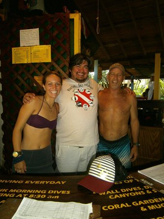 Bananarama Beach and Dive Resort : Me with Marcus and Lanita from the Dive Shop