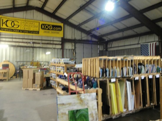 Kokomo Opalescent Glass : warehouse