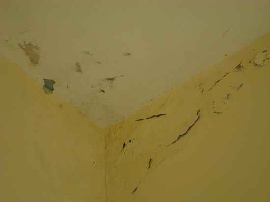 Islazul Hotel Lincoln: Le plafond de la salle de bain