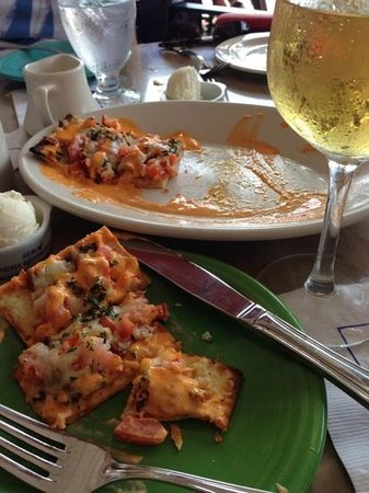Columbia Restaurant : flatbread with lobster