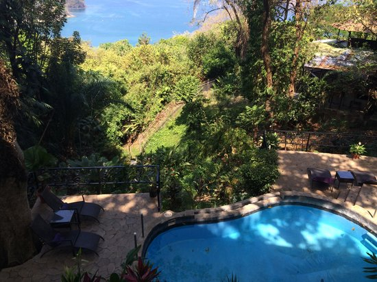 Mango Moon Villa: Blick vom Balkon auf die Bucht